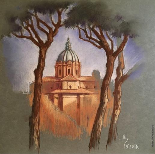 Щепетнова Н. В. Рим. Церковь Санти-Лука-э-Мартин