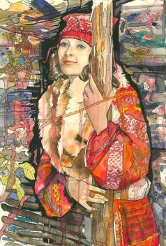 Барковская М. Е. Портрет Марины в народном костюме