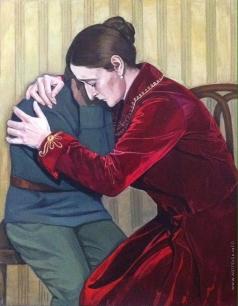 Аверьянова В. А. Расстрел царской семьи Романовых и их слуг. Александра Федоровна с сыном