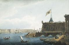 Галактионов С. Ф. Вид на Неву со стороны Петропавловской крепости