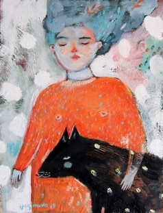 Изосимова Н. Девушка в оранжевом платье