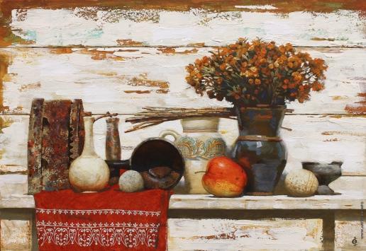 Стурис В. А. Натюрморт с красным яблоком