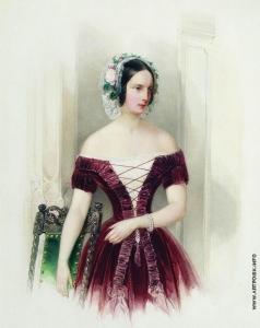 Гау В. И. Портрет великой княжны Александры Николаевны. Около