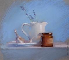 Климова И. Натюрморт на голубом фоне