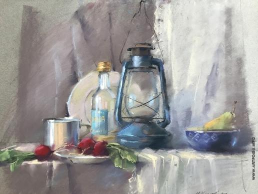 Климова И. Натюрморт с керосиновой лампой