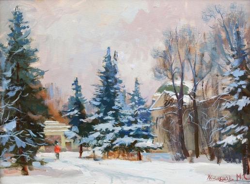 Кузнецов М. С. Харитоновский парк зимой