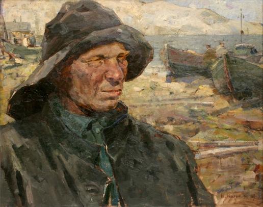 Карякин Н. П. Старый рыбак