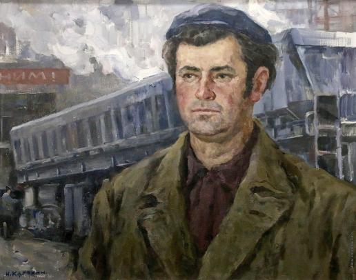 Карякин Н. П. Портрет бригадира П. Бомбуляк