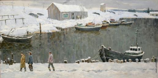 Карякин Н. П. Снег выпал