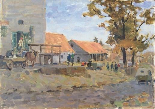 Карякин Н. П. Колхозный двор