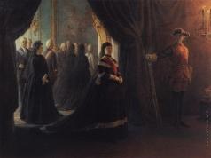 Ге Н. Н. Екатерина II у гроба императрицы Елизаветы
