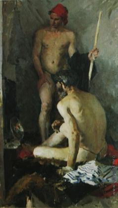 Салахов Т. Т. Двойная мужская обнаженная постановка