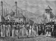 Верещагин В. В. Религиозная процессия на празднике Мохаррем в Шуше