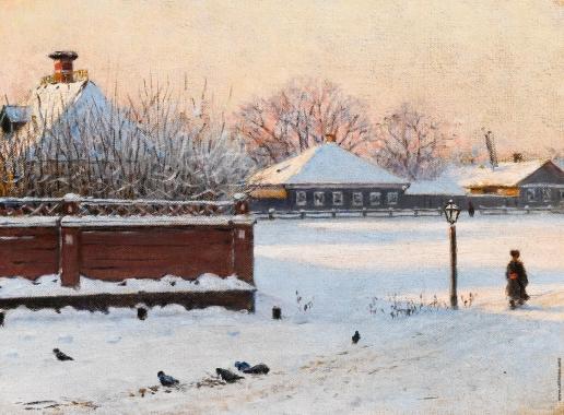 Верещагин В. В. Улица в Ростове при закате зимой