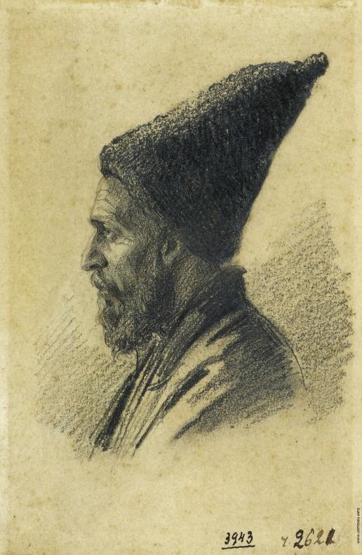 Верещагин В. В. Пожилой азербайджанец в высокой шапке