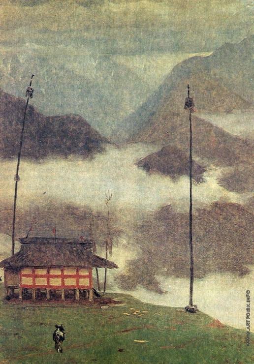 Верещагин В. В. Горы близ монастыря Ташидинг. Сикким