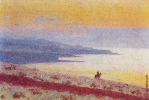 Верещагин В. В. Озеро Иссык-Куль вечером