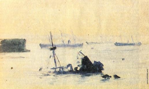 Верещагин В. В. После морского боя. Затопленный испанский флот. Этюд