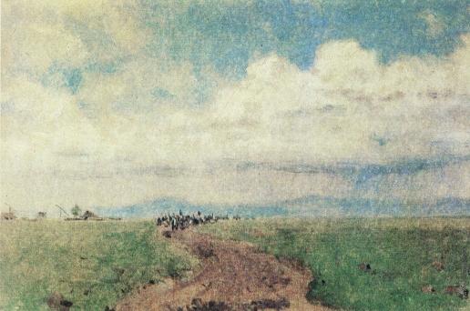 Верещагин В. В. Казаки, вступающие в Румынию (Скобелев-отец)