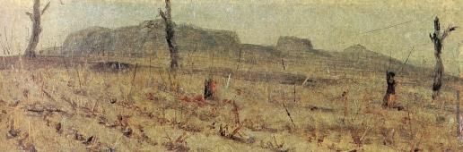 Верещагин В. В. Турецкий редут, на котором был убит С.В. Верещагин