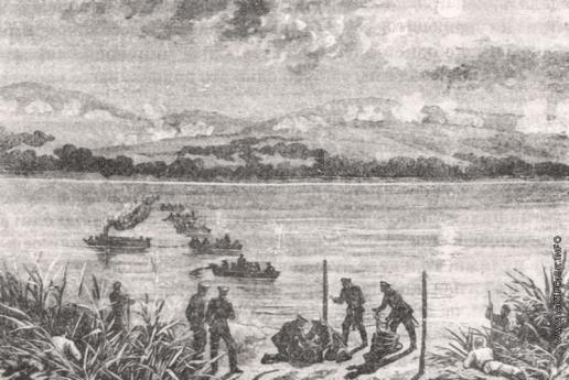 Верещагин В. В. Закладывание мин на Дунае