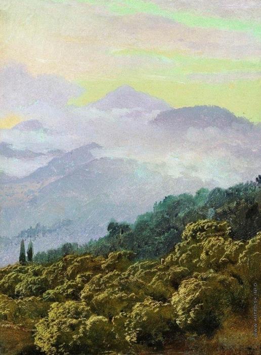Верещагин В. В. Вид Крымских гор