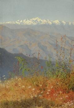 Верещагин В. В. Закат в Гималаях