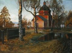 Гермашев М. М. Пейзаж с церковью