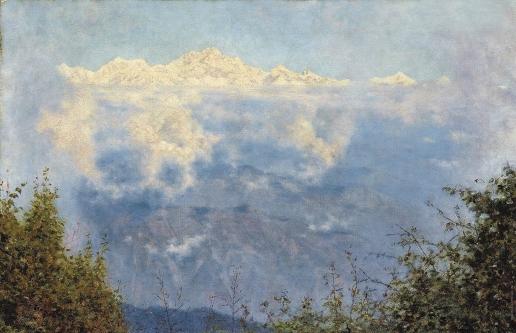 Верещагин В. В. Канчинжинга, Пандим и другие горы за тучей