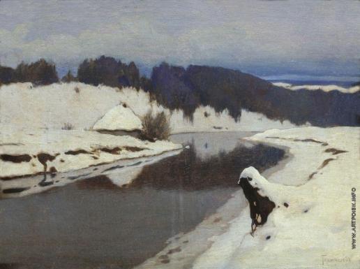 Гермашев М. М. Река зимой