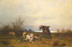 Тихменев Е. А. Охотничья сцена