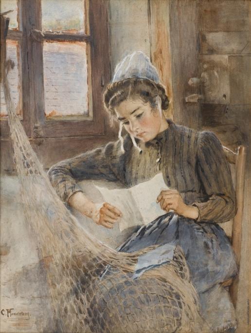 Маковский К. Е. Бретонка за чтением письма