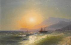 Айвазовский И. К. Вид с мыса Мартин на Монако