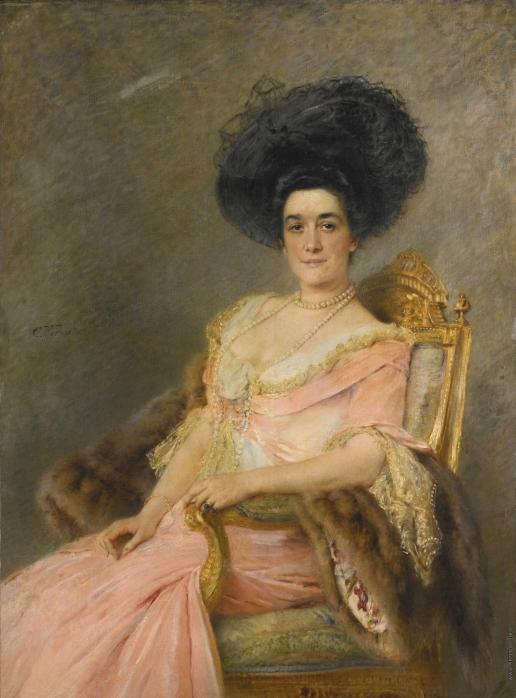 Маковский К. Е. Женщина в розовом (Портрет Марины Иониной)
