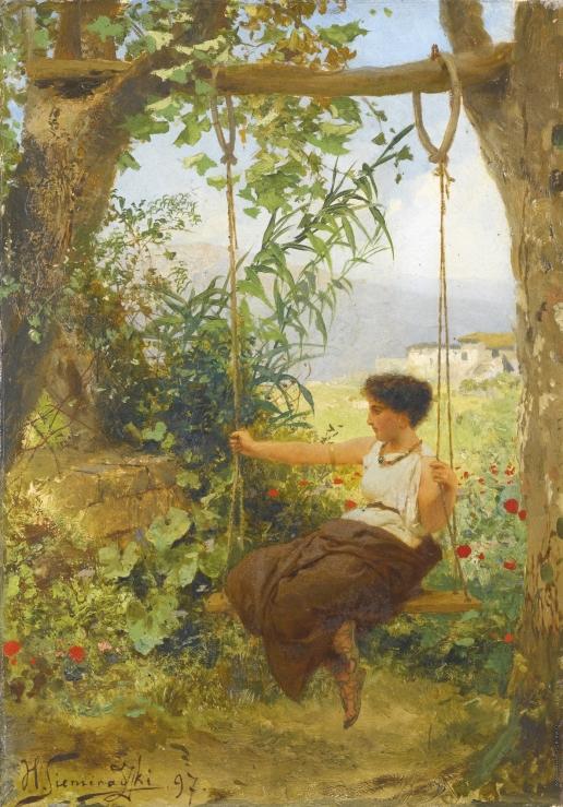 Семирадский Г. И. Девушка на качелях