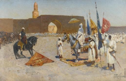 Рубо Ф. А. Сдача знамени халифу