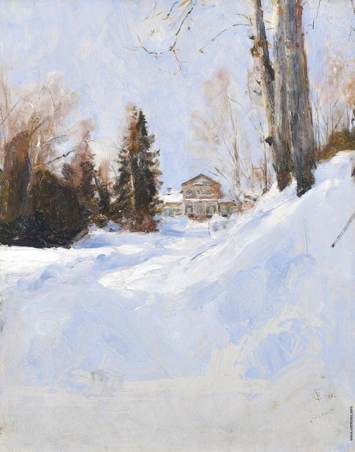 Серов В. А. Зима в Абрамцево