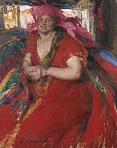 Архипов А. Е. Крестьянка в красном платье