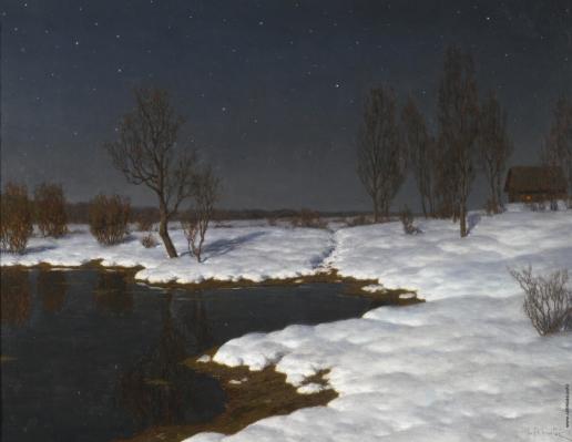 Шультце И. Ф. Зимний пейзаж