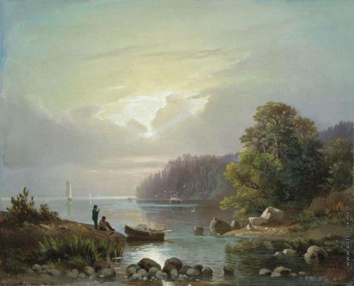 Гине А. В. Пейзаж с рыбаками