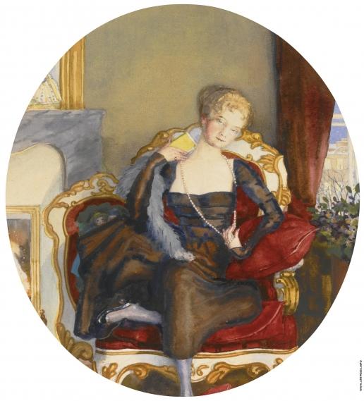 Сомов К. А. Портрет женщины