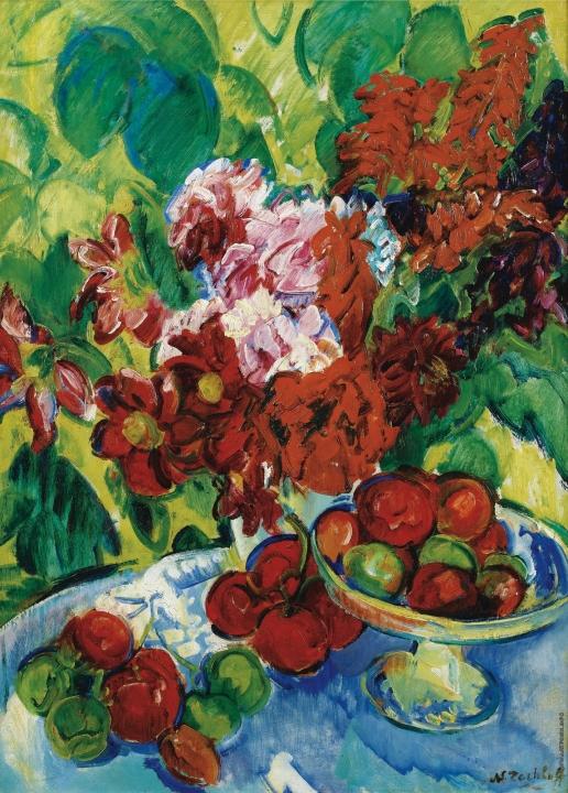 Тархов Н. А. Натюрморт с фруктами и цветами