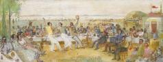 Лабас А. А. Еврейская свадьба