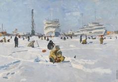 Бирштейн М. А. Зимняя рыбалка