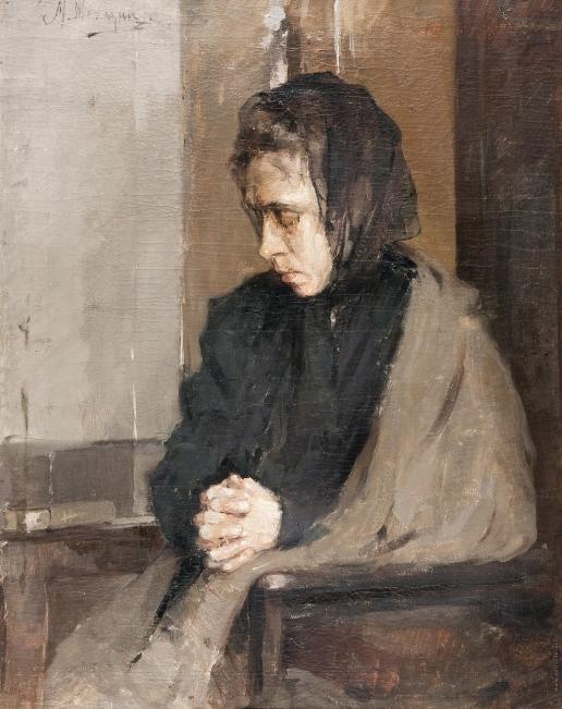 Шемякин М. Ф. Женщина в черной косынке
