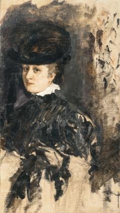 Шемякин М. Ф. Портрет дамы в шляпе