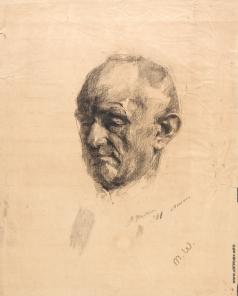 Шемякин М. Ф. Старик. Учебный рисунок