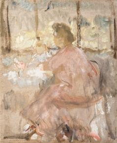 Шемякин М. Ф. Портрет жены и сына за столом