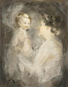 Шемякин М. Ф. Мать и дитя. Этюд