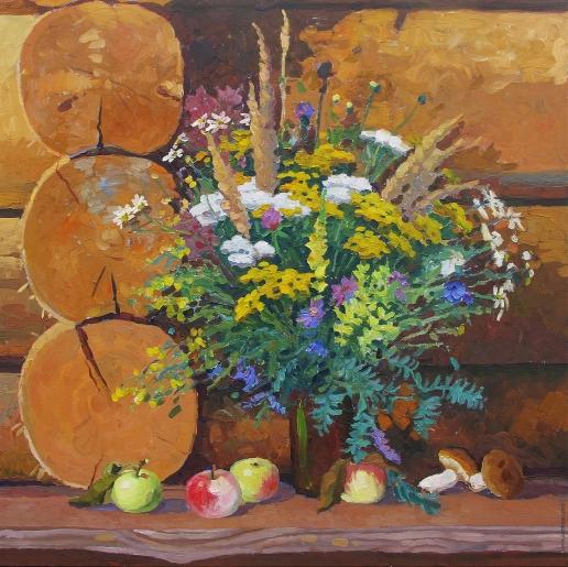 Нестерова А. М. Натюрморт с полевыми цветами